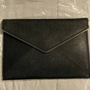 Brand New Rebecca Minkoff Leo Clutch Black/Gold
